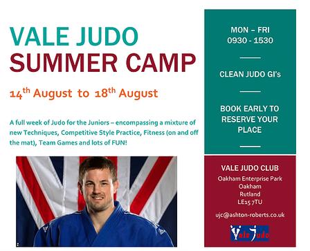 Vale Judo Summer Camp