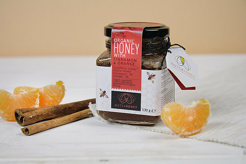 Raw Organic Honey with Organic Cinnamon and Organic Orange