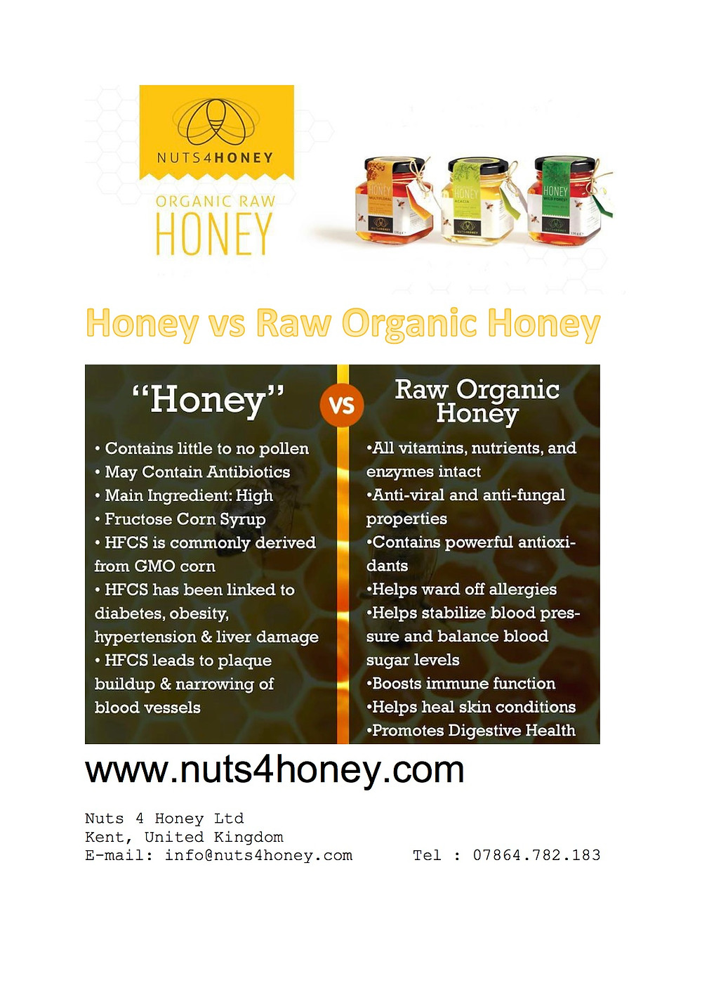 Nuts4honey Organic Raw Honey