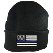 Thin Blue Line Patch Beanie Cap