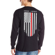 Thin Blue Line Long Sleeve Red Flag Shirt