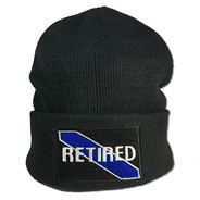 Thin Blue Line Retired Patch Beanie Cap