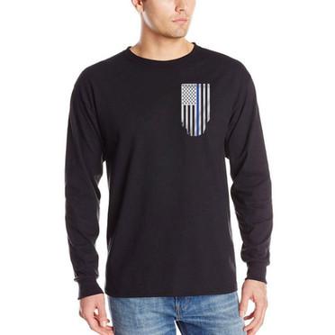 Thin Blue Line Long Sleeve Flag Shirt