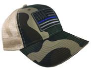 Thin Blue Line Camo Mesh Cap
