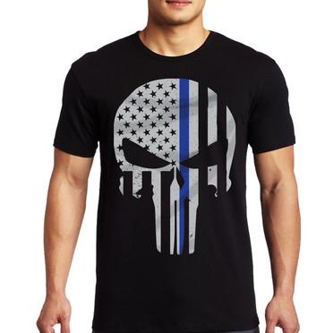 Thin Blue Line Punisher Short Sleeve Shirt.jpg