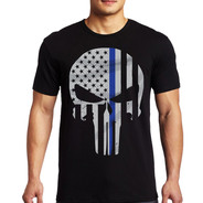 Thin Blue Line Punisher Short Sleeve Shirt