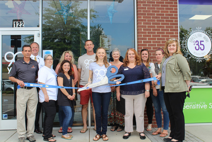 Ribbon cutting ceremony with Owner Megan Schlobohm and Anderson Area Chamber of Commerce