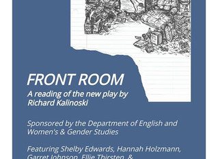 """Front Room"" Reading at UW Oshkosh"