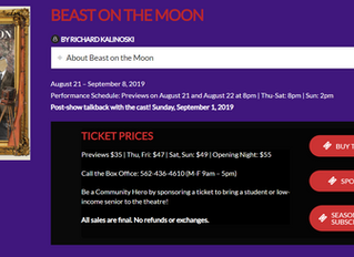 "Two Productions of ""Beast On The Moon"" in U.S."