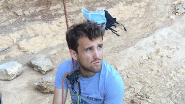 Nathan stoked in Margalef