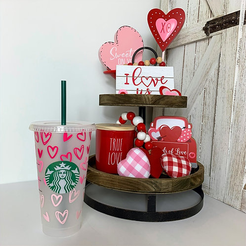 Ombre Hearts Cold Cup