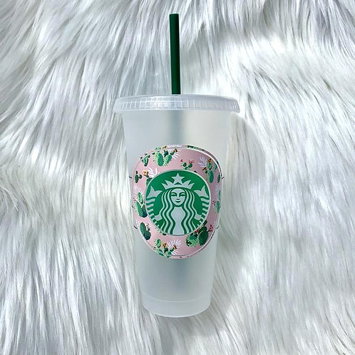Pink Cactus Cold Cup