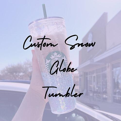 24 oz Custom Snow Globe Tumbler