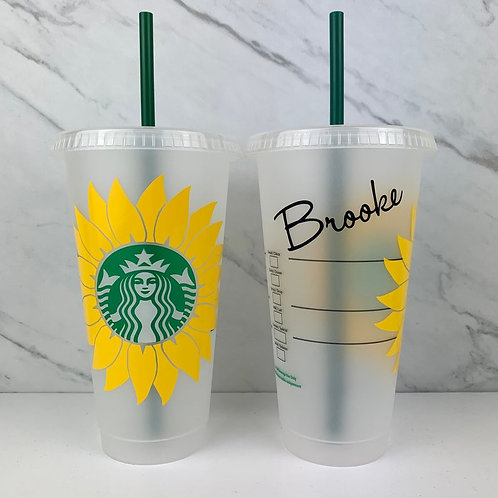 Big Sunflower Cold Cup