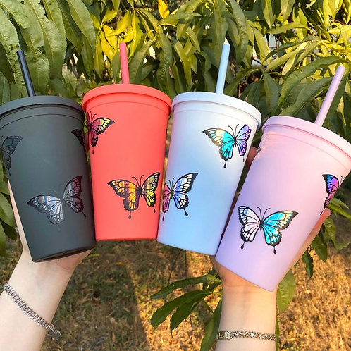 Butterfly 16oz Pastel Cup