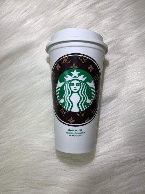 Brown Monogram Hot Cup