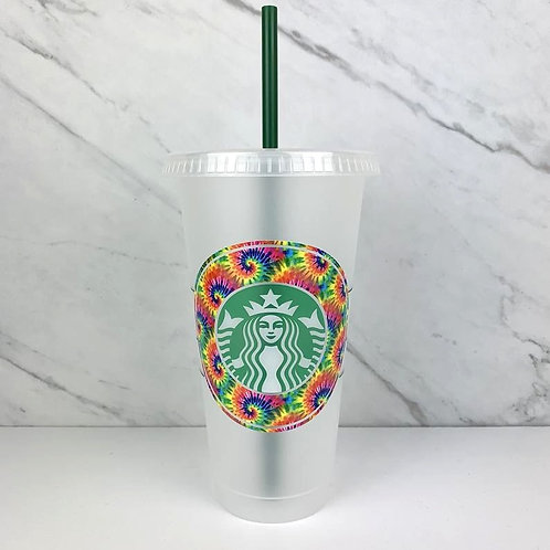 Tie Dye Cold Cup