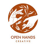 Open Hands Logo Circle Vector Rust_Name-