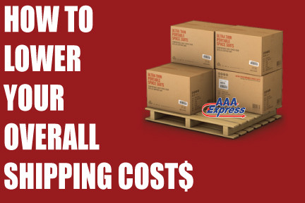 How to lower your overall shipping costs.