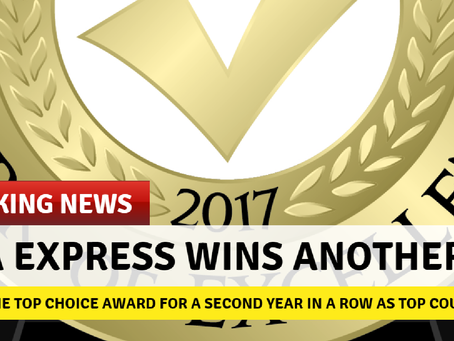 AAA Express WINS Top Choice Award for the second year in a row