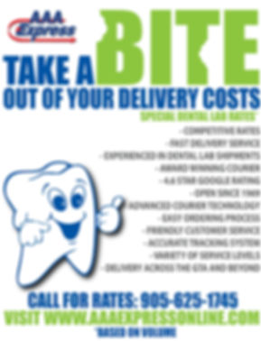 Dental lab deliver, Dental lab delivery driver
