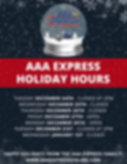 aaa express holiday hours.png