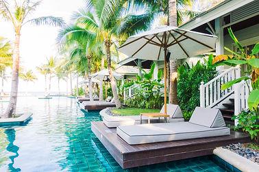 Beautiful luxury swimming pool in hotel
