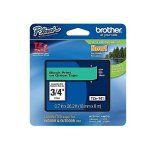 "Brother TZe741 18mm (0.7"") Black on Green tape for P-Touch 8m (26.2 ft)"