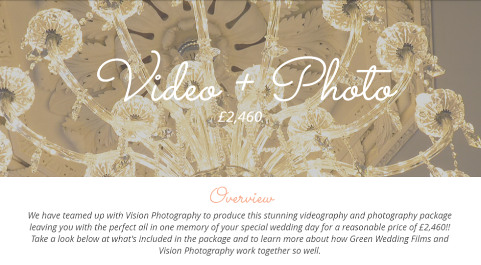 video + photo package