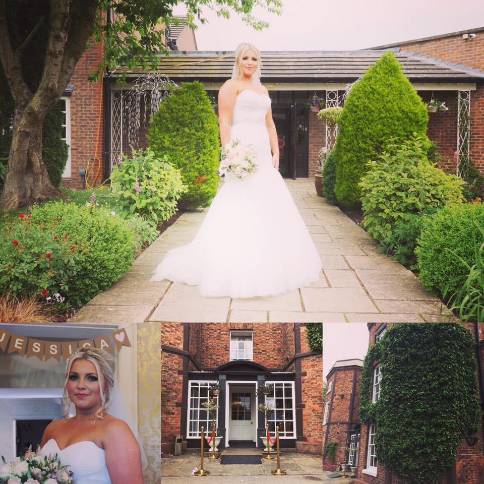 jessica bride wedding day