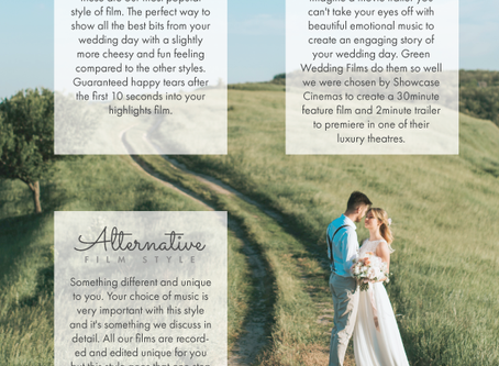 Did you know there's different 'styles' of wedding films?