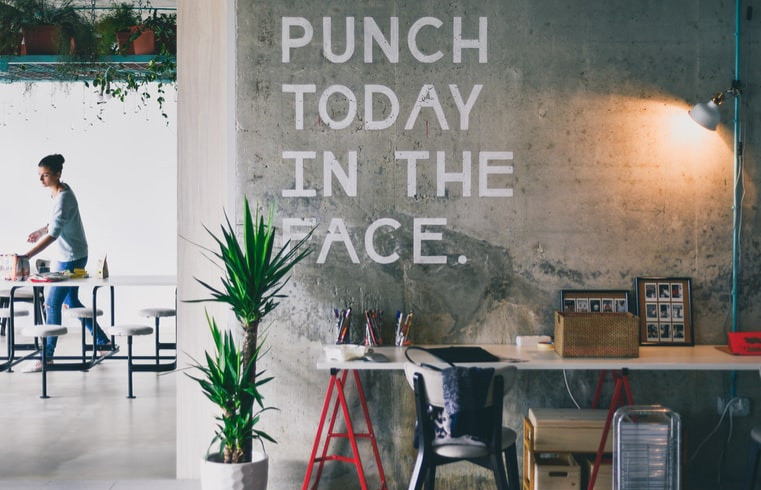 PUNCH TO DAY IN THE FACE Written On Modern Concrete Apartment Concrete Wall Yucca Plant And Studio Desk 10 Ways To Answer How Do I Get Where I Want To Be In Life That Anyone Can Do Relationship Break-Up Self Improvement Lifestyle Advice Blog Fabsolutely Co