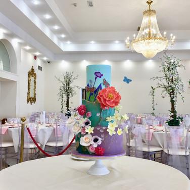 Bright Summer Burst fondant wedding cake