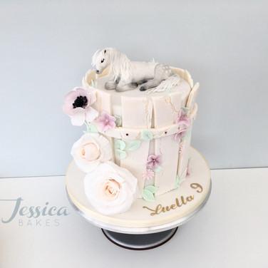 Pony themed cake