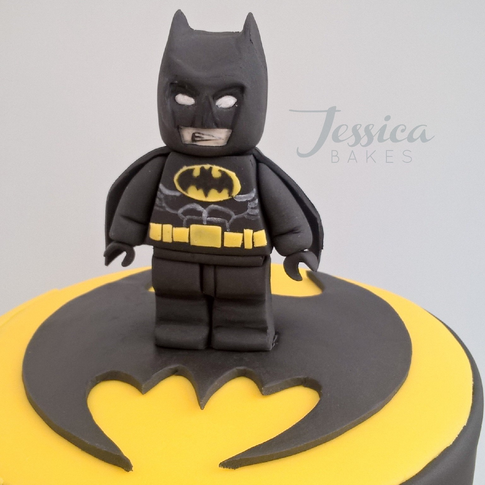 Lego Batman themed cake