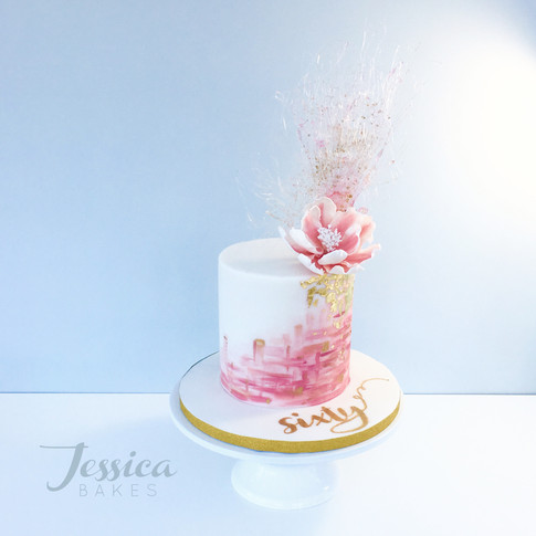 Floral Explosion cake in fondant