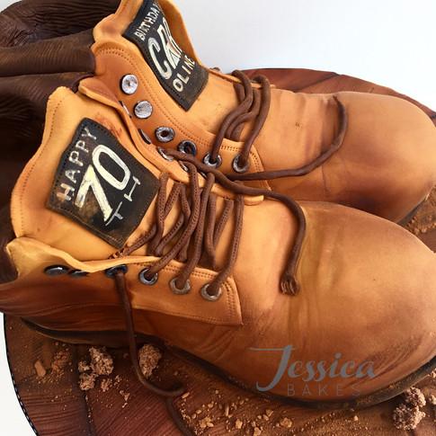 Walking Boots cake