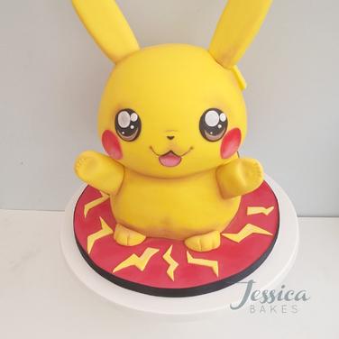 Pikachu themed cake