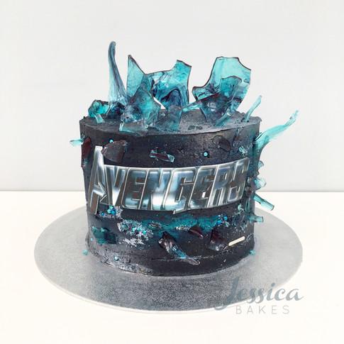 Avengers themed cake
