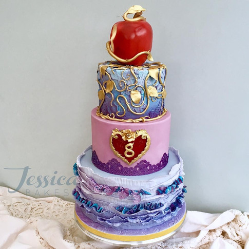 Descendants themed cake