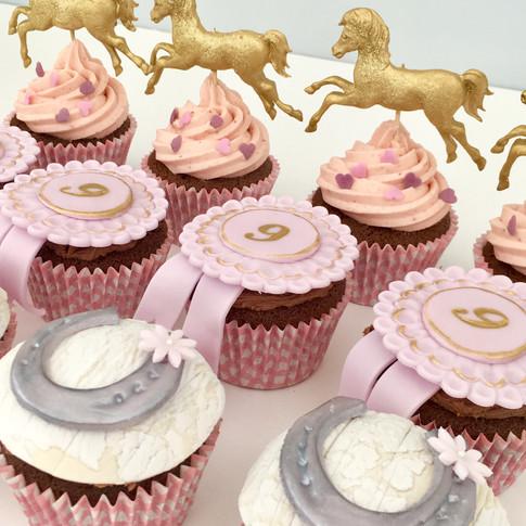 Pony themed cupcakes