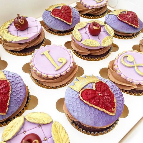 Descendants themed cupcakes
