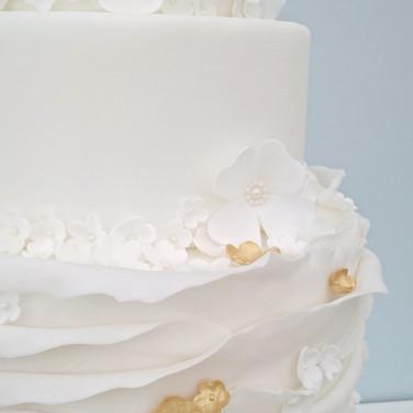 Ruffle Blossom Wedding cake