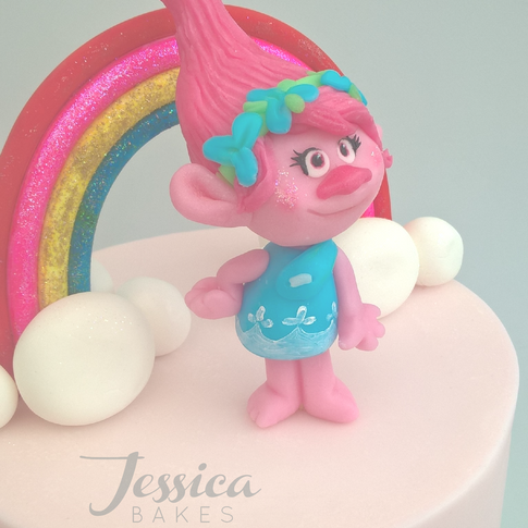 Trolls themed cake