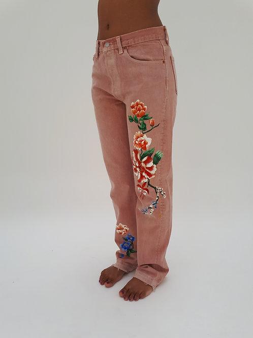 KINTSUGI Hand Painted Levi Jeans