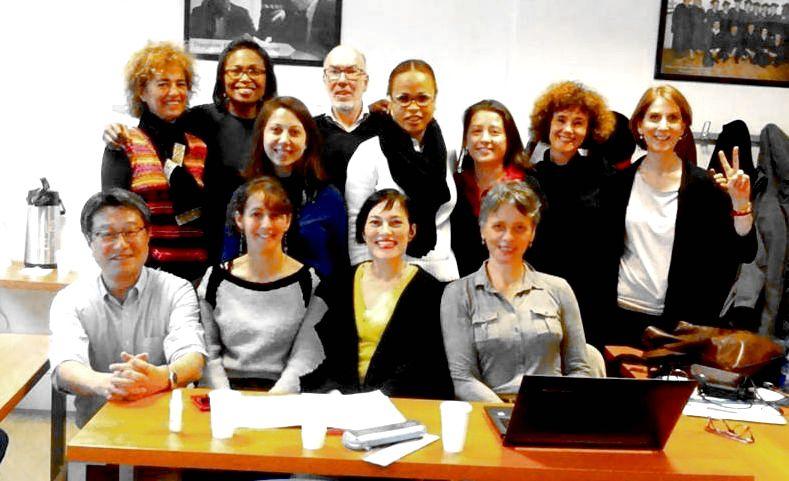 With students, Master of Intercultural Management at Université Paris Dauphine - PSL