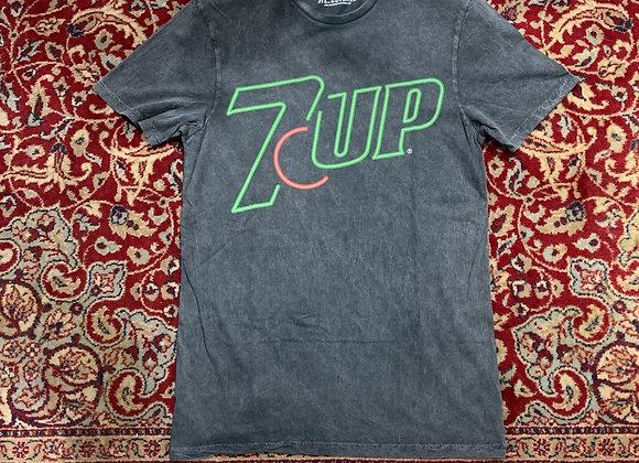 T-shirt uomo grigia delavé stampa 7up