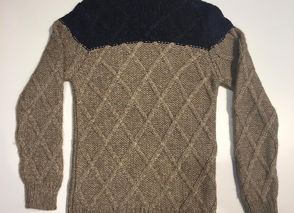 Pullover dolcevita uomo norvegese bicolore Wool & Co.