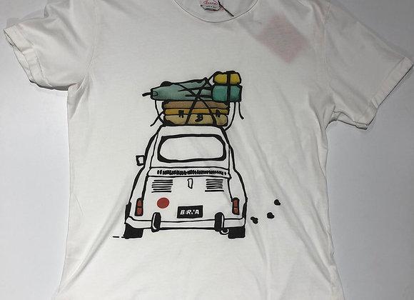 T-shirt bianca uomo con auto 500 Berna