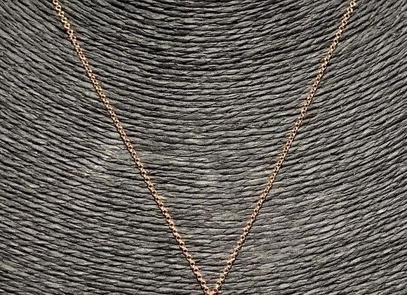 Collana argento placcato oro ciondolo pesce
